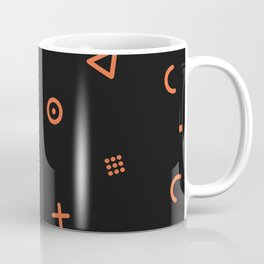 Happy Particles - Black Coffee Mug