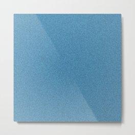 Blue Denim Stonewashed Effect Metal Print