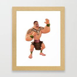Maori Warrior Framed Art Print