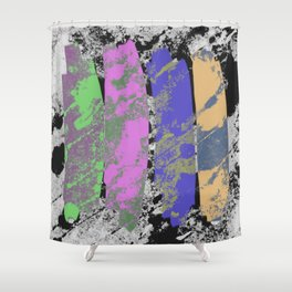 All 4 One - Abstract, textured artwork Shower Curtain
