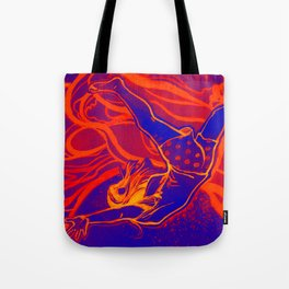 For Funsies in blue and orange Tote Bag