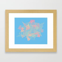 Abstract crystal in blue and pink Framed Art Print