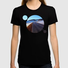 Country road through winter wonderland III   landscape photography T-shirt