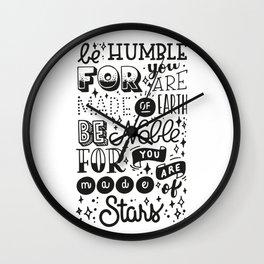 Made of Stars Wall Clock