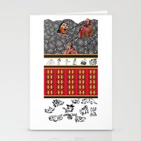 ethnic Stationery Cards featuring ETHNIC by CaritoMo