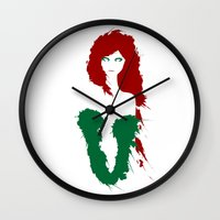 poison ivy Wall Clocks featuring Poison Ivy by Williams Davinchi