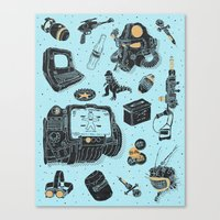 fallout Canvas Prints featuring Artifacts: Fallout by Josh Ln