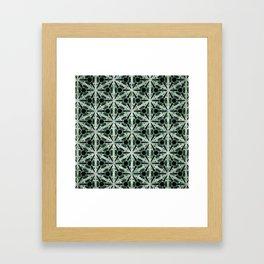 Below Patterns Framed Art Print