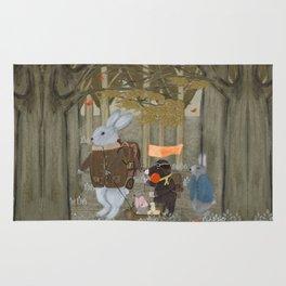 a little woodland adventure Rug