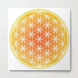 Flower of Life - Yellow calm Metal Print