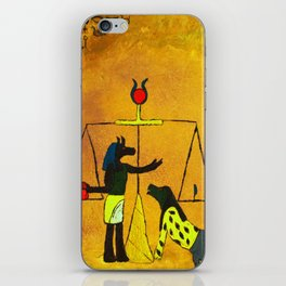 Ammit and Osirus Judge a Soul iPhone Skin