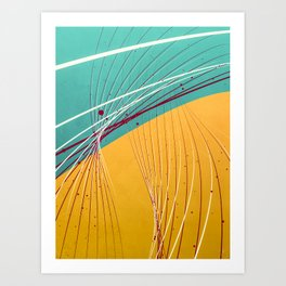 two tone bridging Art Print