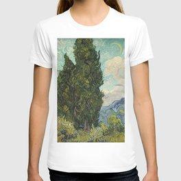 Cypresses by Vincent van Gogh T-shirt
