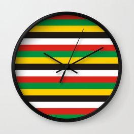 Dominica guyana flag stripes Wall Clock