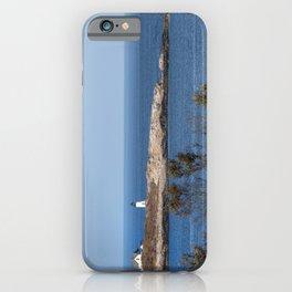 Autumn at Straitsmouth Island Lighthouse iPhone Case