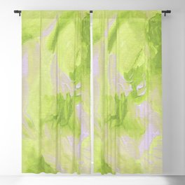 Lemon Yellow Abstract Blackout Curtain