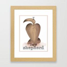 I Love My Dog Butt: German Shepherd Framed Art Print