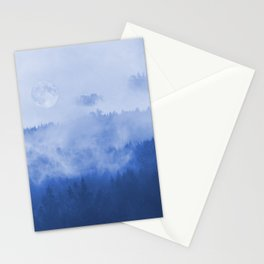 Explore The Blue Mountains At Full Moon Stationery Cards