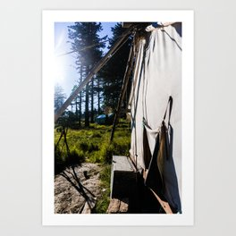 Outdoor Tent Art Print