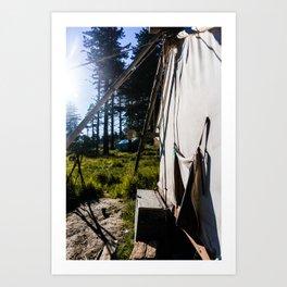 Outdoor Tent Art Print