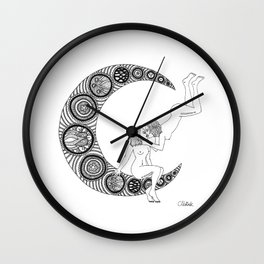 Moon Lesbians Wall Clock