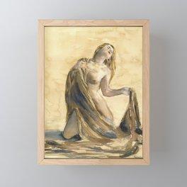 KargacinArt - Watercolor Painting - Nude Framed Mini Art Print