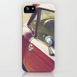 Sportscar, supercar, windscreen details, red triumph spitfire, english car iPhone Case