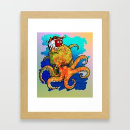 The Octopus and the Chicken Framed Art Print