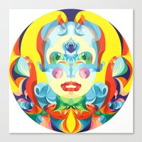 i woke up like this Canvas Prints featuring I Woke up like This by Anai Greog