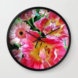 Flower Bouquet Wall Clock