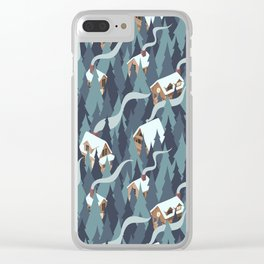 Forest Cabins Clear iPhone Case