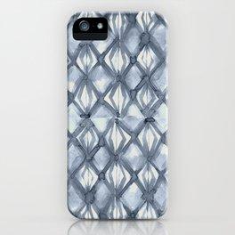 Braided Diamond Indigo Blue on Lunar Gray iPhone Case