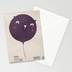 Cat balloon Stationery Cards