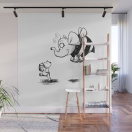 They're Up, They're Down Wall Mural