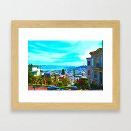 San Francisco Lombard St. Framed Art Print