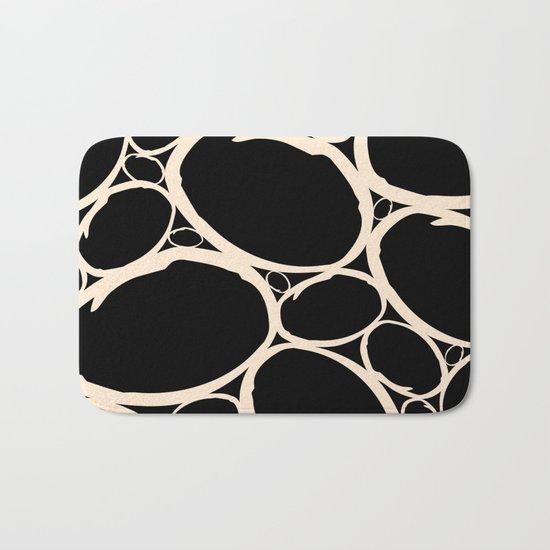 Circles  |  Cream & Black Bath Mat