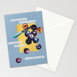 nice plums Stationery Cards