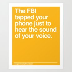 FBI Tapping Art Print