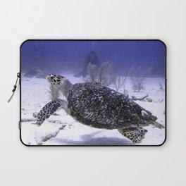 Swimming Hawksbill Turtle Laptop Sleeve