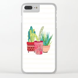 Cactus Trio Clear iPhone Case