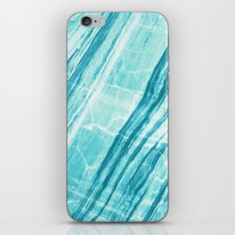 Abstract Marble - Teal Turquoise iPhone Skin