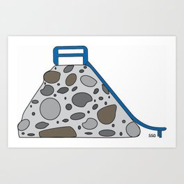 Rock Slide Art Print