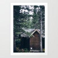 cabin Art Prints featuring Cabin by Garrett Lockhart