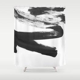 b+w strokes 5 Shower Curtain