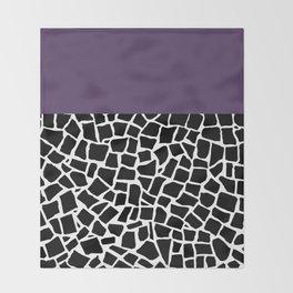 British Mosaic Purple Boarder Throw Blanket