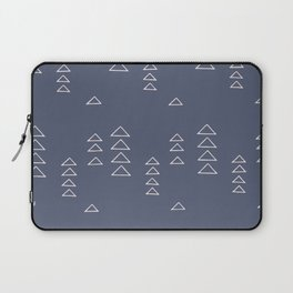 Modern Minimalist Triangle Pattern in Slate Blue Laptop Sleeve