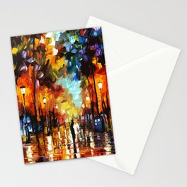 Tardis Art And The Couple Starry Night Stationery Cards
