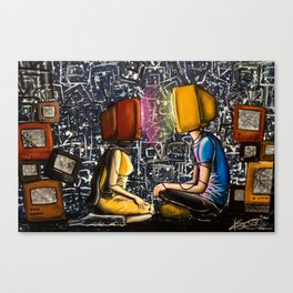Fixed With Cable Television Canvas Print