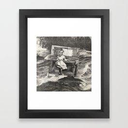 Ballad for piranhas Framed Art Print