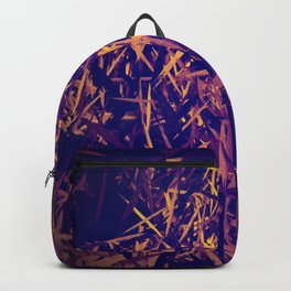 Gold and purple textured abstract background Backpack